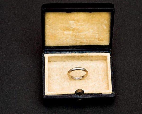 Atatürk'ün Latife Hanım'a taktığı nikâh yüzüğü #1