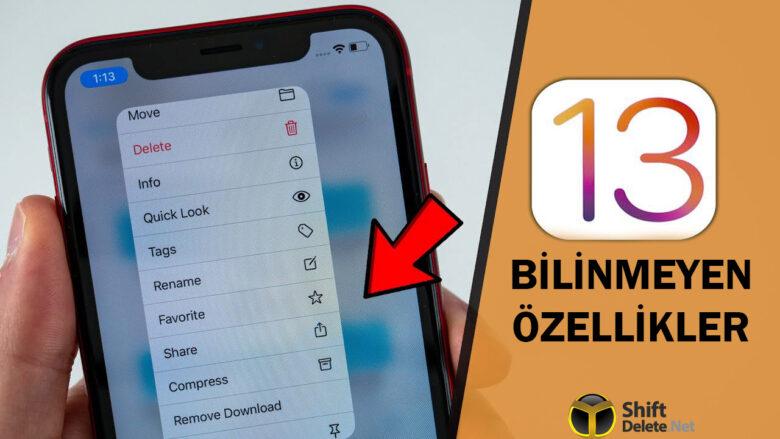 iOS 13'ün pek bilinmeyen 25 özelliği!WWDC 2019'da tanıtılan iOS 13 özellikleriyle dikkat çekmişti. Peki açıklanmayan özellikler? iOS 13 bilinmeyen...